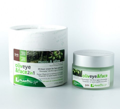 Крем для лица и век Oliveye and Face 2 in 1 Mastic spa,